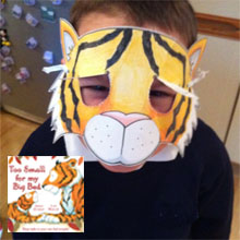 Make a Sleepy Tiger Cub Mask