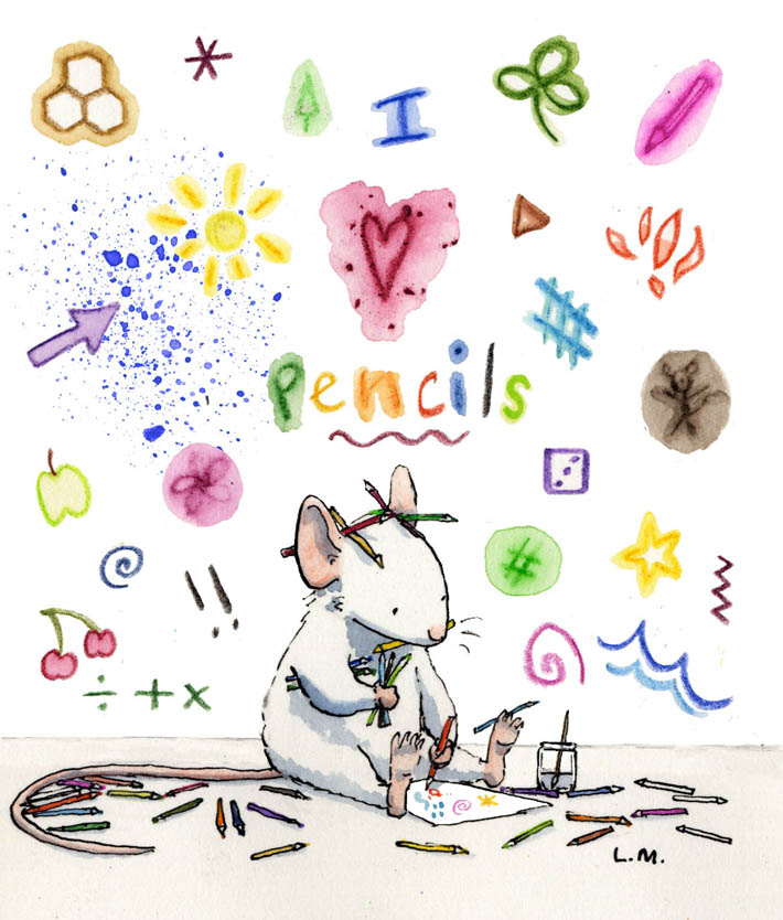 Pencil mouse for blog