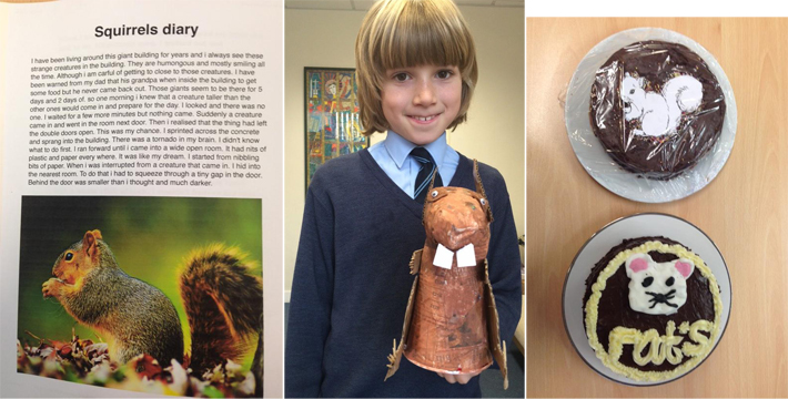 Beautifully imaginative written work, a fabulous model of a squirrel and even rodent cakes!