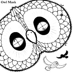 make an owl mask
